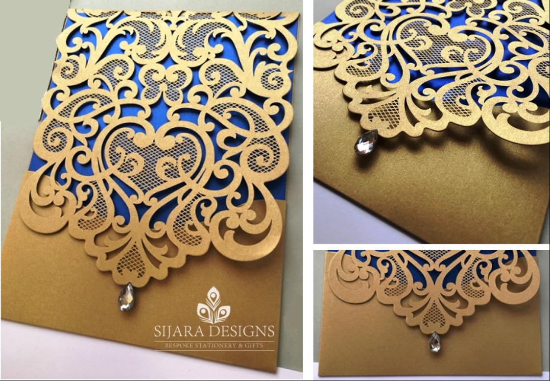 Laser Cut Invitations - Sijara Designs