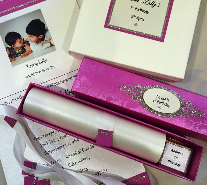Princess Scroll 1ST BIRTHDAY INVITATION
