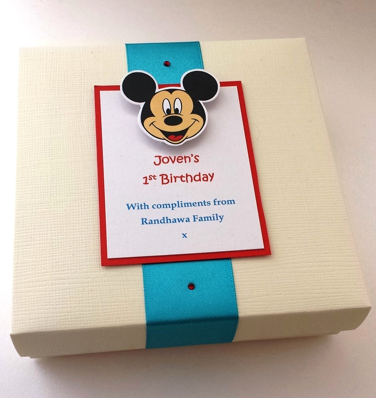 Micky Mithai Box For A Baby S 1st Birthday Fill With Favourite
