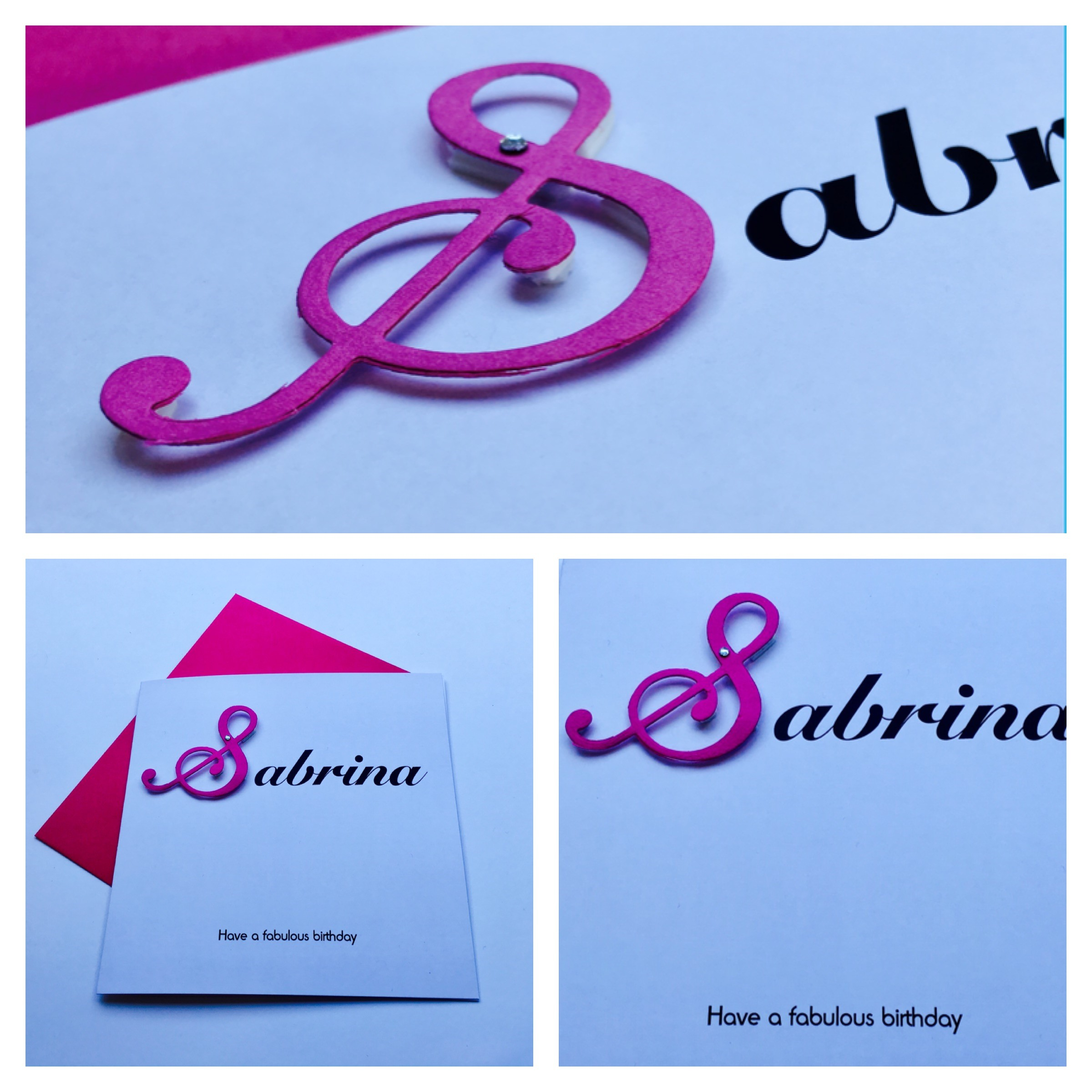 3D Fancy Pink Letter Card PERSONALISED 30TH BIRTHDAY